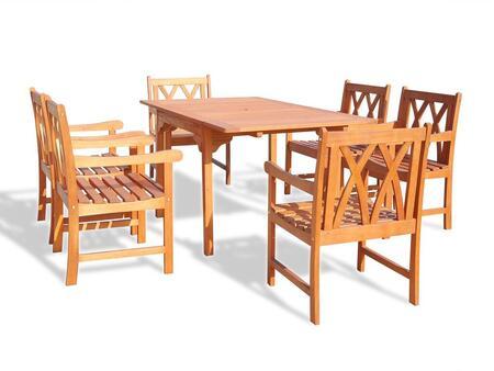 Vifah v1394set15 rectangular shape patio sets appliances for Outdoor furniture 0 finance