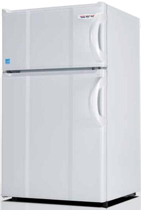 "MicroFridge 3.0xMF4RW 19"" Energy Star Top Freezer Compact Refrigerator with 3 cu. ft. Capacity, 0 Degree Freezer, Tall Bottle Storage, and Crisper, in White"
