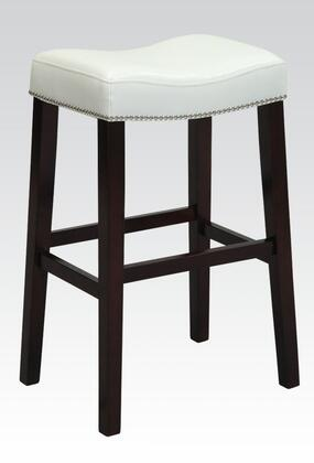 "Acme Furniture 9629 Lewis 30"" Counter Height Stool with Nail Head Trim, Tapered Legs and Polyurethane Upholstery in"