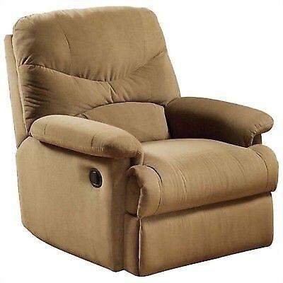 Acme Furniture 00627 Arcadia Series Casual Microfiber Metal Frame  Recliners