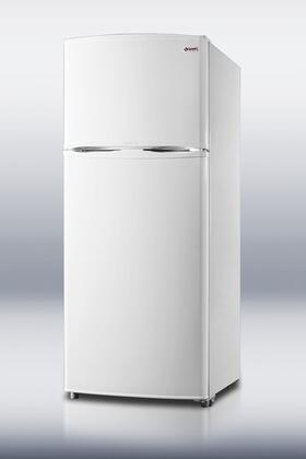 Summit FF1620W Freestanding Counter Depth Top Freezer Refrigerator with 15.8 cu. ft. Total Capacity 2 Glass Shelves