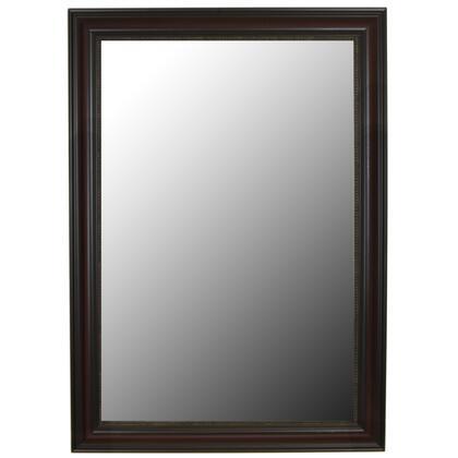 New Burmese Beaded Cherry Black Framed Wall Mirror