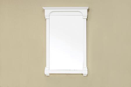 Bellaterra Home 205024MIRRORWH  Rectangular Portrait Bathroom Mirror