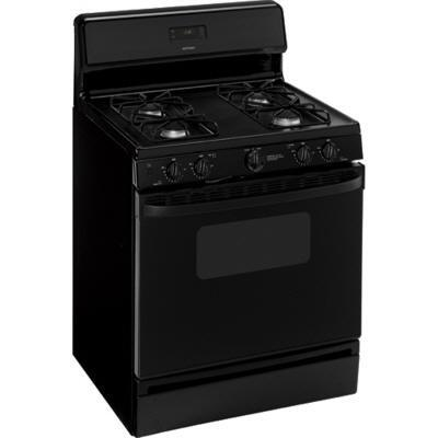 Hotpoint RGB530DEPBB  Gas Freestanding Range with Sealed Burner Cooktop, 4.4 cu. ft. Primary Oven Capacity, Broiler in Black