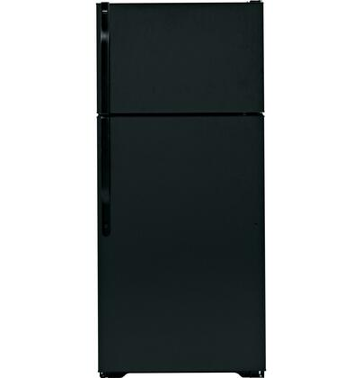 Hotpoint HTH17CBDRBB Freestanding Top Freezer Refrigerator with 16.5 cu. ft. Total Capacity 2 Wire Shelves 4.07 cu. ft. Freezer Capacity