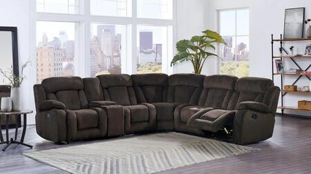 Global Furniture USA U9867 Fabric Sectional Sofa U9867SECTIONAL ...