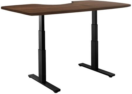"""Vifah ActiveDesk 53"""" Standing Desk with Electric Adjustable Height, Sit-to-Stand Motor, Smart Keypad, Black Steel Frame and Grade-A Wood Top in"""