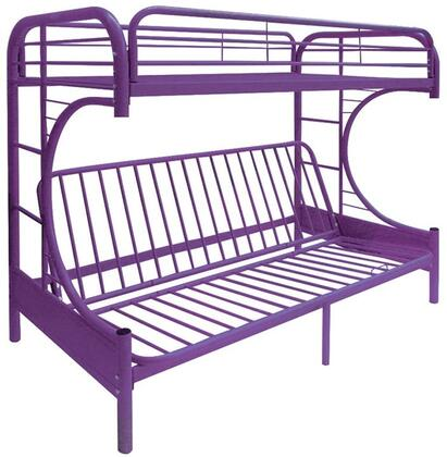 Acme Furniture 02091WPU Eclipse Series  Twin over Full Size Bunk Bed