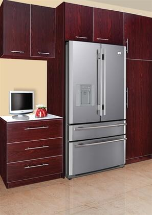 haier pbfs21edas french door refrigerator with 21 0 cu ft capacity in stainless steel. Black Bedroom Furniture Sets. Home Design Ideas