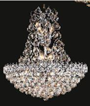 """J & P Crystal Lighting Firework Collection 99005D24 24"""" Wide Chandelier in X Finish"""