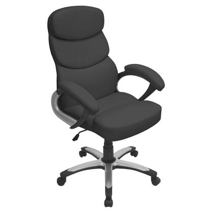"LumiSource Doctorate OFC-AC-DOC 42"" - 46"" Office Chair with 360-Degree Swivel, Leatherette Upholstery and Adjustable Height in"