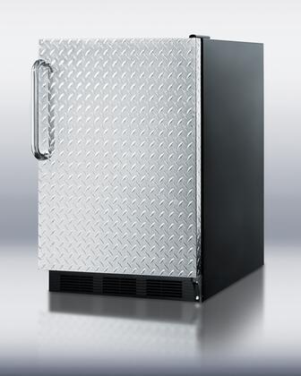 "Summit FF6BBIDPLADA 24"" FF6BIADA Series Counter Depth All Refrigerator with 5.5 cu. ft. Capacity in Black"