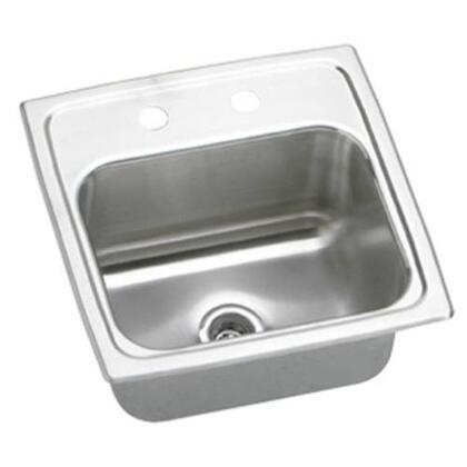 "Elkay BLR15600 Lustertone 15"" Top Mount Single Bowl Bar Sink"