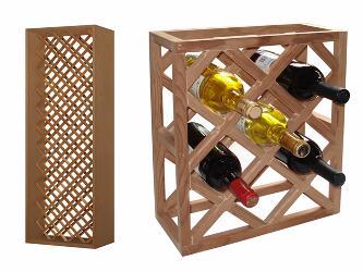 Vinotemp VT-INDVDIAMOND Individual Diamond Wine Racks