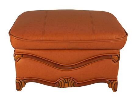 J. Horn C048BROWN Traditional Leather Ottoman