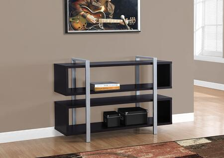 """Monarch I 718X 48"""" Bookcase with Thick Panels, Multi-functional and Two Open Shelves"""