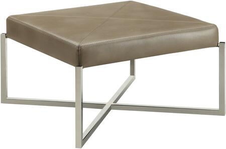 Donny Osmond Home 503987 Home Accents Series Transitional Fabric Metal Frame Ottoman
