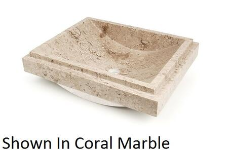 D'Vontz MIL5141 Milan Drop-In Vessel Sink With Natural Stone Construction & In