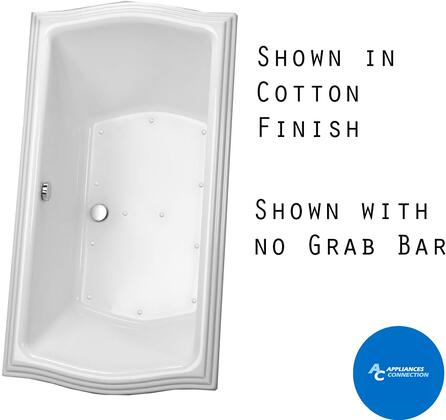 Toto ABR781SX Clayton Series Drop-In Airbath Tub with Cast Acrylic Construction, Slip-Resistant Surface, and Grab Bar, Beige Finish