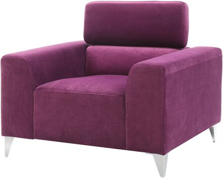 Glory Furniture G335C Suede Armchair with Metal Frame in Purple