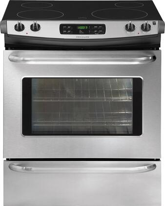 """Frigidaire FFES3025LS 30"""" Slide-in Electric Range with Smoothtop Cooktop Storage 4.2 cu. ft. Primary Oven Capacity"""