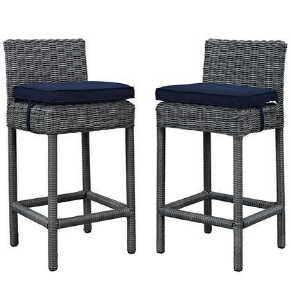 Modway EEI2197GRYNAVSET Summon Series  Aluminum Frame  Patio Chair