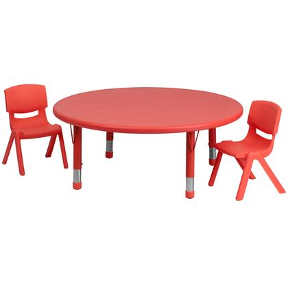 Flash Furniture YUYCX00532ROUNDTBLREDRGG
