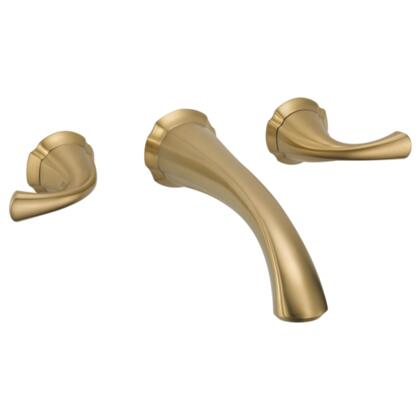 Addison T3592LF-CZWL Delta Addison: Two Handle Wall Mount Lavatory Faucet Trim in Champagne Bronze