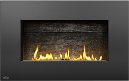 Napoleon WHVF31 Vent Free Plazmafire Wall Hanging Fireplace Complete With Slate Brick Panel, Fuel Saving Electronic Ignition & Exclusive Topaz Crystaline Ember Bed