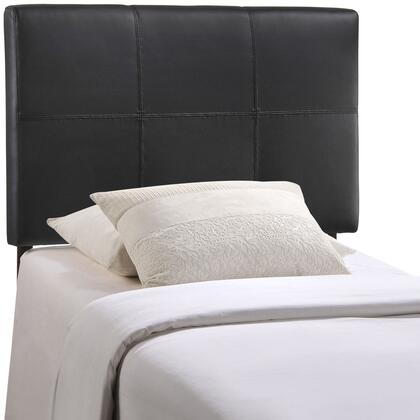 Modway MOD-5153-XXX Quad Twin Size Headboard with Ten Squares Design, Fiberboard and Plywood Frame, and Fine Vinyl Upholstery