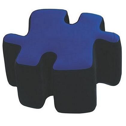 "LumiSource Puzzotto Collection CHR-OTTO 22"" Ottoman with Fabric Upholstery, Fun Puzzle Design and Foam Construction"