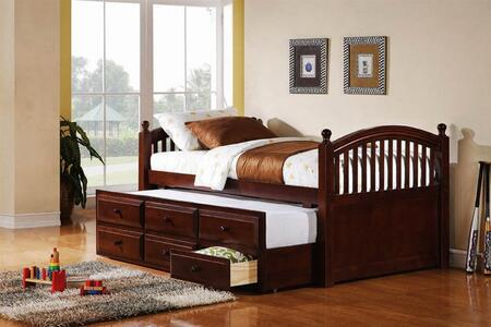 """Coaster 400381T Captain""""s Series  Twin Size Captains Bed"""