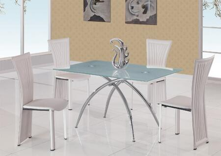 Global Furniture USA T12DT1499DCWH Global Furniture USA Dini