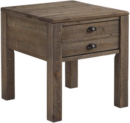 Milo Italia TA6578 Sandra Series Casual Wood Rectangular 1 Drawers End Table