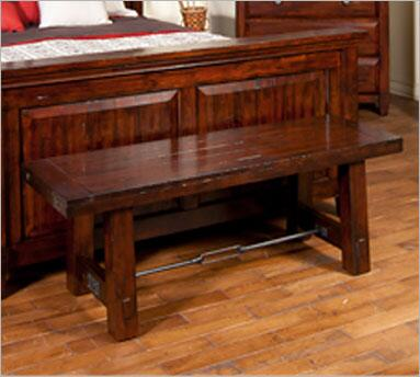 Sunny Designs 2340RMBW Vineyard Series Accent Armless Wood Bench