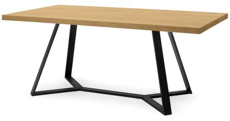 Domitalia ARCHIT20L3AN2014 Archie Rectangular Dining Room Table with Lacquered Steel Frame, Y-Shaped Legs and Veneered Top in