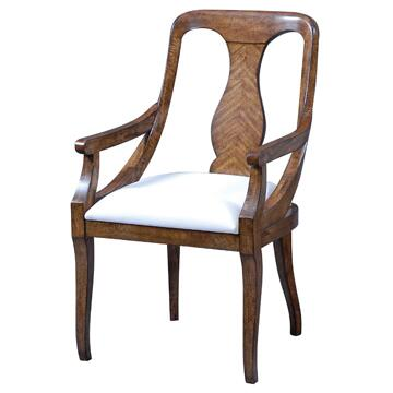 Ambella 28001620001 Spider Series Contemporary Fabric Wood Frame Dining Room Chair