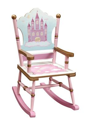 Guidecraft G86308 Princess Series Armless  Wood Frame Not Upholstered Rocking Chair
