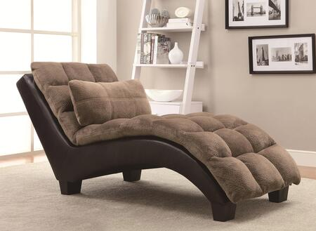 Coaster 550008 accent seating series contemporary fabric for Accent traditional chaise by coaster