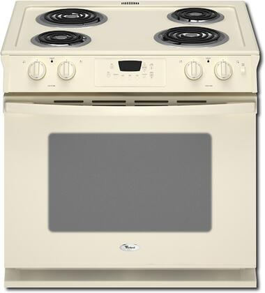 "Whirlpool WDE150LVT 30"" Slide-in Electric Range with Coil Cooktop 4.5 cu. ft. Primary Oven Capacity"