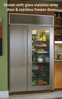Northland 60SSSG  Counter Depth Side by Side Refrigerator with 39.3 cu. ft. Capacity in Glass Refrigerator/Panel Ready Freezer Door
