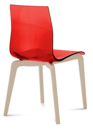 Domitalia GELSLSFFRSSRO Gel Series Transitional Wood Frame Dining Room Chair