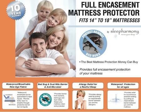 Donco 67  10-14 Full Encasement Mattress Protectors (Set of 4)