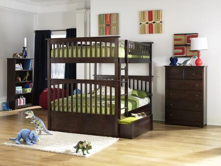 Atlantic Furniture YBBCOLUMBIAFULLFULLALAW Columbia Series  Full Size Bed