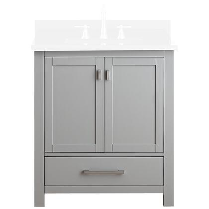 Avanity MODERO-V Modero Vanity Only with Soft Closed Doors, Drawers, Brushed Nickel Finished Hardware, Adjustable Height Levelers, Poplar Solid Wood and Plywood