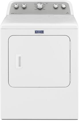 "Maytag MDX655DW 29"" Bravos Dryer with 7.0 Cu. Ft. Capacity, Reversible Side Swing Door, HE Sensor Dry, Wrinkle Prevent 150, and Drum Light"