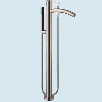 "Wyndham Collection WCAT102340P11 Taron Floor Mounted Faucet, with Solid Brass Core, Dripless German Cartridge, 9"" Spout Length, and Modern Design"