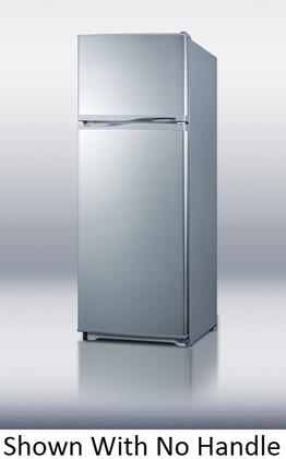 Summit FF1062SLVSSTB Freestanding Top Freezer Refrigerator with 9.41 cu. ft. Total Capacity 3 Glass Shelves