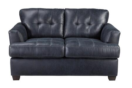 Signature Design by Ashley Inmon 6580x35 Loveseat with Faux Leather, Low Melt Fiber Wrapped Over Foam and Contemporary Style