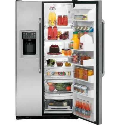 GE Cafe CSCP5UGXSS Freestanding Side by Side Refrigerator